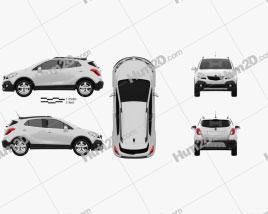 Opel Mokka 2013 car clipart