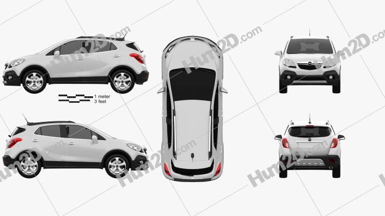Opel Mokka 2013 Clipart Image