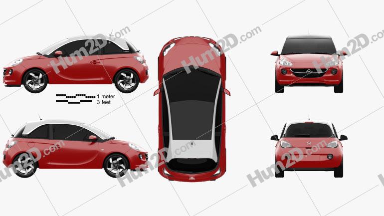 Opel Adam 2013 car clipart