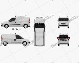 Opel Combo D Panel Van L2H1 2012 clipart