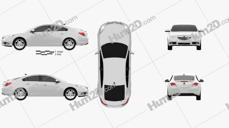 Opel Insignia hatchback 2012 car clipart