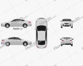 Opel Insignia OPC sedan 2012 car clipart