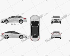 Opel Cascada (Cabrio) 2013 car clipart