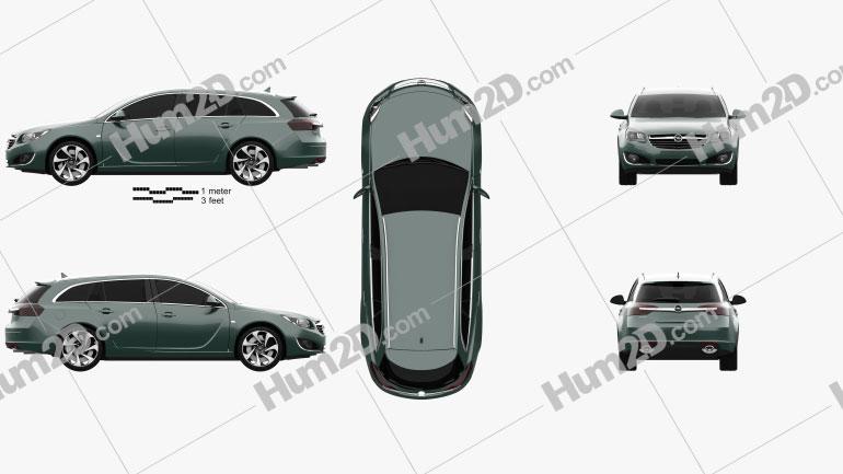 Opel Insignia Sports Tourer 2013 car clipart
