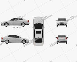 Opel Vectra sedan 2002 car clipart