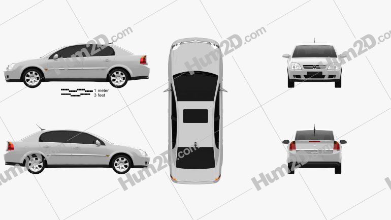 Opel Vectra sedan 2002 Clipart Image