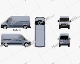 Opel Movano Panel Van 2010 clipart