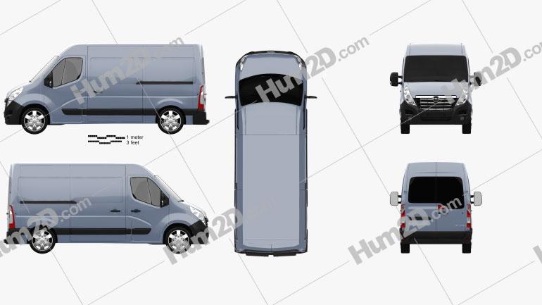 Opel Movano Panel Van 2010 Clipart Image