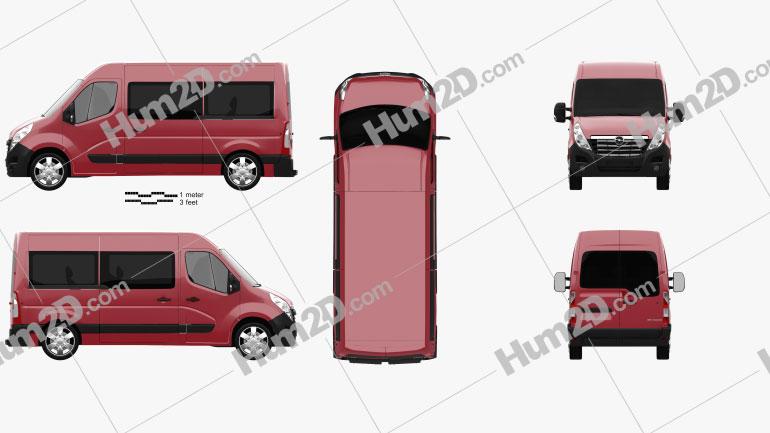 Opel Movano Passenger Van 2010 clipart