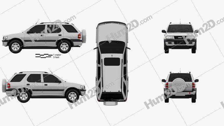 Opel Frontera (B) 1998 car clipart