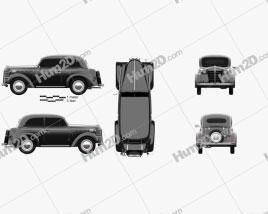 Opel Olympia (OL38) 1938 car clipart