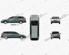Opel Vectra caravan 2002 car clipart