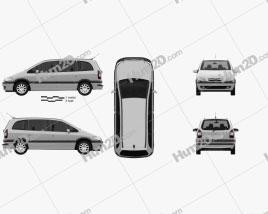 Opel Zafira (A) 2000 clipart