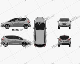 Opel Meriva (B) 2013 car clipart