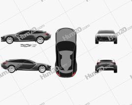 Opel Monza 2013 car clipart