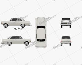 Opel Rekord (P2) 2-door sedan 1960 car clipart