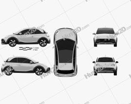 Opel Adam Rocks concept 2013 car clipart