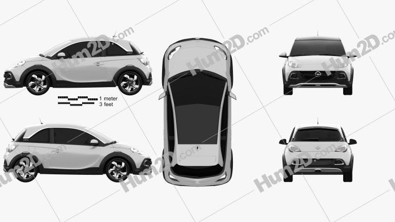 Opel Adam Rocks concept 2013 Clipart Image