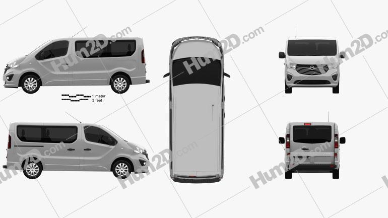 Opel Vivaro Passenger Van 2014 clipart