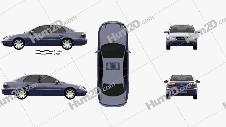 Opel Omega (B) sedan 1999 car clipart