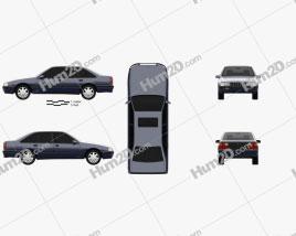 Opel Senator (B) 1987 car clipart