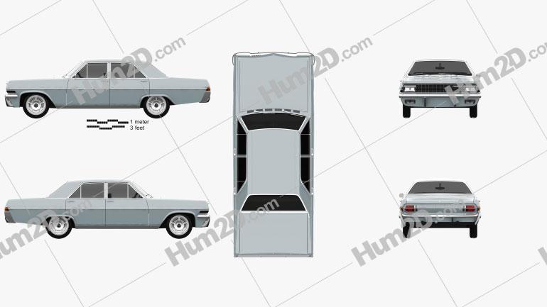 Opel Diplomat (A) 1964 car clipart