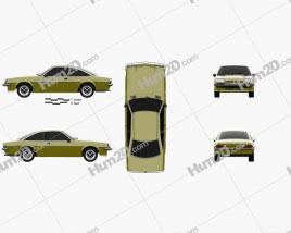 Opel Manta (B) 1975 car clipart