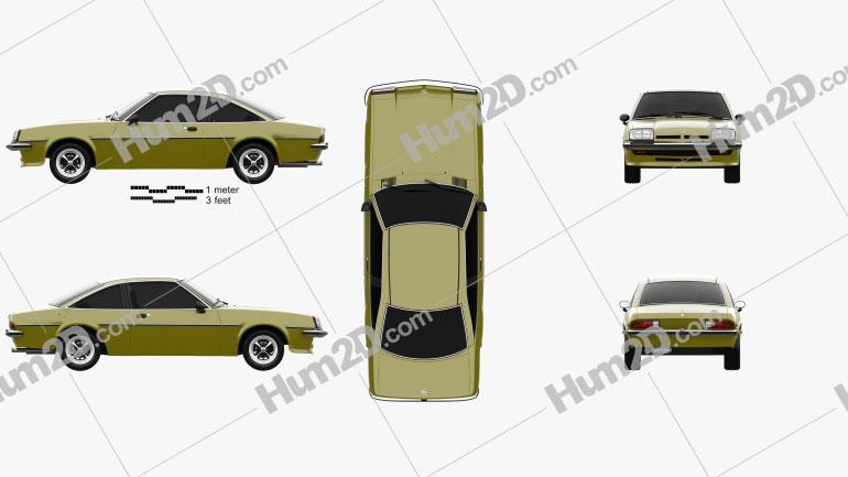 Opel Manta (B) 1975 Clipart Image