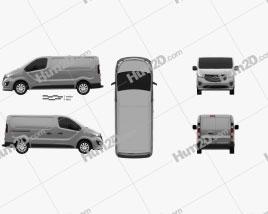 Opel Vivaro Panel Van L1H1 2014 clipart