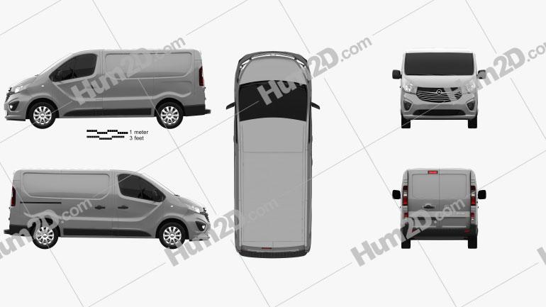 Opel Vivaro Panel Van L1H1 2014 Clipart Image