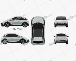 Opel Adam Rocks 2014 car clipart