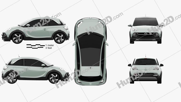 Opel Adam Rocks 2014 Clipart Image