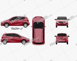 Opel Karl 2015 car clipart