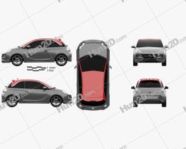 Opel Adam S 2014 car clipart