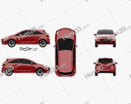 Opel Corsa E OPC 2015 car clipart