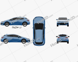 Opel Astra J OPC 2011 car clipart