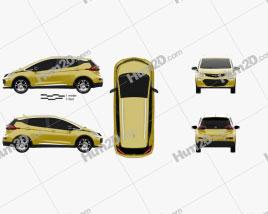 Opel Ampera-e 2017 car clipart