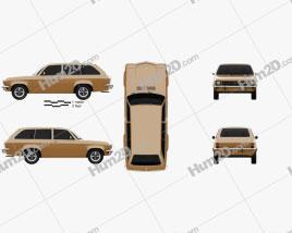Opel Ascona A Voyage 1970 car clipart