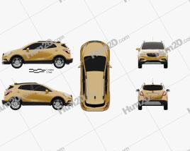 Opel Mokka X 2017 car clipart