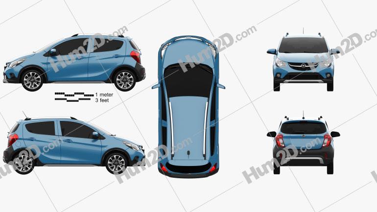 Opel Karl Rocks 2017 Clipart Image