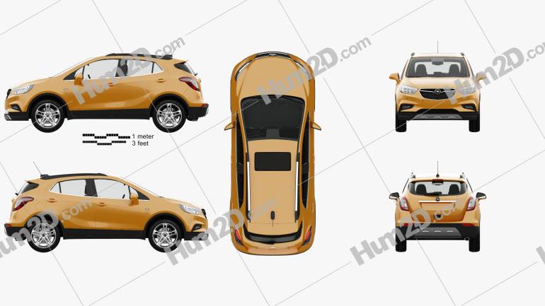 Opel Mokka X with HQ interior 2017 car clipart