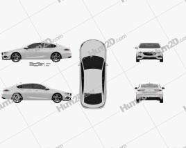 Opel Insignia Grand Sport 2017 car clipart