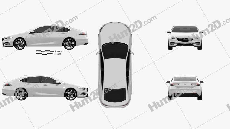 Opel Insignia Grand Sport 2017 Clipart Image