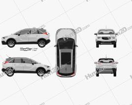 Opel Crossland X Turbo 2017 car clipart
