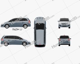 Opel Zafira (B) 2009 clipart