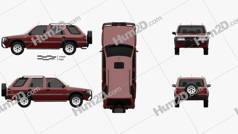 Opel Frontera (A) 5-door 1992 car clipart