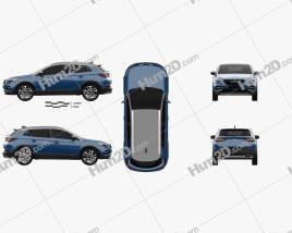 Opel Grandland X 2017 car clipart