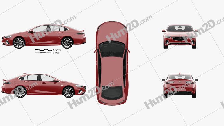 Opel Insignia GSi with HQ interior 2017 car clipart
