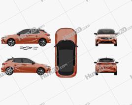Opel Corsa-e 2020 car clipart