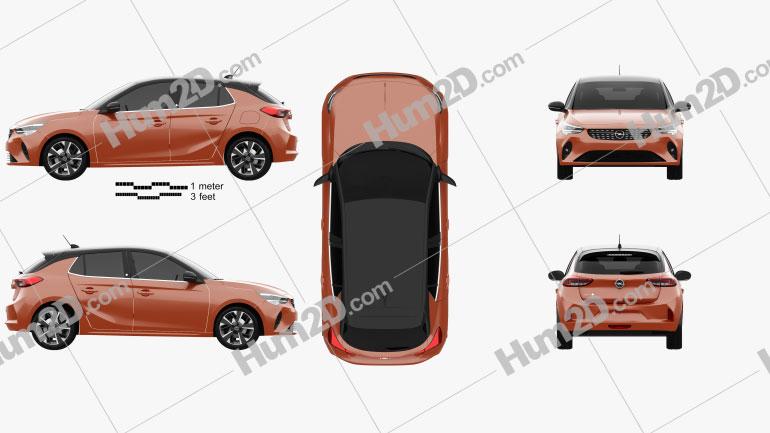 Opel Corsa-e 2020 Clipart Image